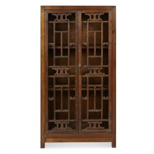 Lattice Panelled Book Cabinet