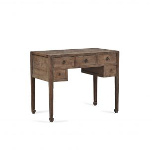 Elm Desk with Drawers