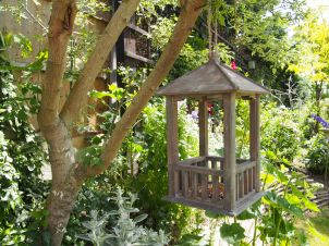 Wooden Gazebo Bird Feeder 4