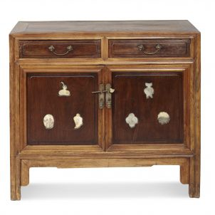 Beech and Rosewood End Cabinet
