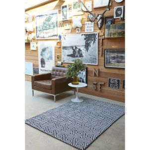Maisey Wool Rug Black  2