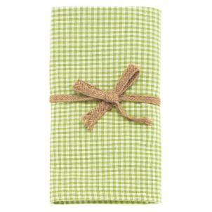 Dandelion Gingham Napkins- Avocado Green